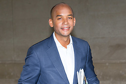 London, October 22 2017. Labour's Shadow Secretary of State for Business, Innovation and Skills Chuka Umunna MP leaves the BBC after attending the Andrew Marr show at the BBC New Broadcasting House in London. © Paul Davey