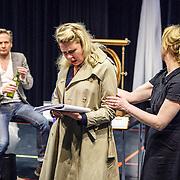 NLD//Amsterdam20160415 - Persdag toneelstuk In de Ban van Broadway, Martijn Nieuwerf, Tjitske Reidinga en Bianca Krijgsman
