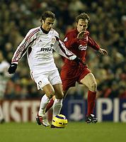 Fotball<br /> Champions League 2004/05<br /> Liverpool v Bayer Leverkusen<br /> 22. febuar 2005<br /> Foto: Digitalsport<br /> NORWAY ONLY<br /> liverpool's Didier Hamann and leverkusen's Dimiotar Berbatov