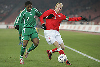 Fotball<br /> Sveits<br /> 2007<br /> Foto: EQ Images/Digitalsport<br /> NORWAY ONLY<br /> <br /> Emeghara Ifeyani (NGR) gegen Ludovic Magnin (SUI)