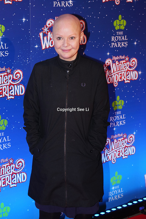 London, England, UK. 16th November 2017. Gail Porter attend the VIP launch of Hyde Park Winter Wonderland 2017 for a preview. tomorrow is opening for the public