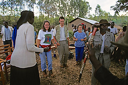 Michelle, David, Jackie & Locals Dancing At Festivities
