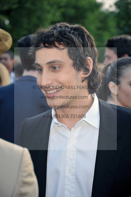 ALEX DELLAL at the annual Serpentine Gallery Summer Party sponsored by Canvas TV  the new global arts TV network, held at the Serpentine Gallery, Kensington Gardens, London on 9th July 2009.