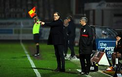 Crewe Alexandra manager David Artell gestures from the side line- Mandatory by-line: Nizaam Jones/JMP - 28/11/2020 - FOOTBALL - Jonny-Rocks Stadium - Cheltenham, England - Cheltenham Town v Crewe Alexandra - Emirates FA Cup second round