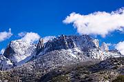 Castle Rocks in winter, Sequoia National Park, California USA