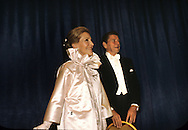 President and First Lady Nancy Reagan at an Inaugural Ball on January 20, 1981...Photograph by Dennis Brack bB22