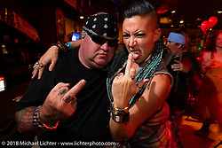 Cycle Source party at the Iron Horse Saloon during the 78th annual Sturgis Motorcycle Rally. Sturgis, SD. USA. Wednesday August 8, 2018. Photography ©2018 Michael Lichter.