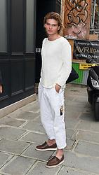 Jordan Barrett is seen at fitting rooms at Paris Fashion week <br /><br />28 September 2017.<br /><br />Please byline: Vantagenews.com