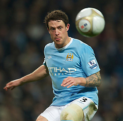 MANCHESTER, ENGLAND - Sunday, February 13, 2010: Manchester City's Wayne Bridge during the FA Cup 5th Round match against Stoke City at the City of Manchester Stadium. (Photo by David Rawcliffe/Propaganda)  MANCHESTER, ENGLAND - Sunday, February 13, 2010: Manchester City xxxx and Stoke City's xxxx during the FA Cup 5th Round match at the City of Manchester Stadium. (Photo by David Rawcliffe/Propaganda)