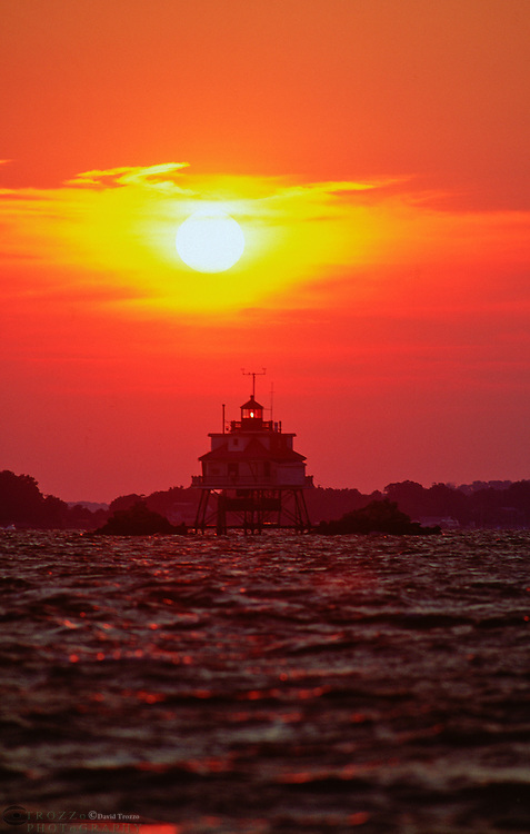 Annapolis, Maryland--The Thomas Point Shoal Light is currently the last unaltered screwpile cottage-type lighthouse on its original foundation in the United States. The light was built and activated in November of 1875. Concerns of its preservation brought it National Register of Historic Places listing in 1975, to be succeeded by National Historic Landmark status in 1999..