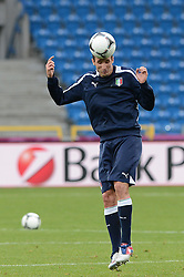 12.06.2012, Staedtisches Stadion, Posen, POL, UEFA EURO 2012, Italien, Training, im Bild  GIORGIO CHIELLINI during the during EURO 2012 Trainingssession of Italy national team, at the SMunicipal Stadium in Poznan, Poland on 2012/06/13