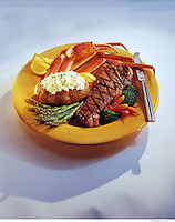 Surf and Turf Dinner Plate