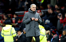 Manchester United manager Jose Mourinho leaves the pitch after the final whitsle of the Premier League match at Old Trafford, Manchester.