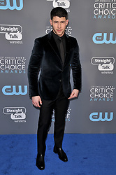 Nick Jonas at The 23rd Annual Critics' Choice Awards held at the Barker Hangar on January 11, 2018 in Santa Monica, CA, USA (Photo by Sthanlee B. Mirador/Sipa USA)