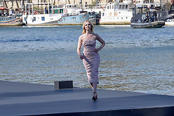 Elle Fanning attending the L Oreal Fashion Show in Paris, France on September 30, 2018. Photo by Julien Reynaud/APS-Medias/ABACAPRESS.COM