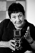 Marti Friedlander, New Zealand photography icon. November 2007.<br /> Photograph Richard Robinson.<br /> 2007 © New Zealand Herald A Division of APN New Zealand Ltd.<br /> No Reproduction without prior written permission. Contact www.newspix.co.nz to licence photograph.