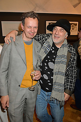 Left to right, TOM DIXON and RON ARAD at the annual Royal Academy of Art Summer Party held at Burlington House, Piccadilly, London on 4th June 2014.