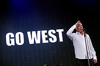 Go West at Rewind Festival North 2021 the 80s festival , Capesthorne Hall, Macclesfield, England photo by Michael Palmer