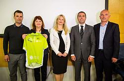 Andrej Hauptman, Mojca Novak, Maja Pak, Tomaz Jontes and Bogdan Fink during press conference of cycling race 24th Tour de Slovenie 2017, on May 4, 2017 in Telekom Slovenije, Ljubljana, Slovenia. Photo by Vid Ponikvar / Sportida