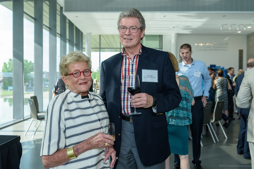 Terry and Ken Jones at the 10-year anniversary celebration of Republic Bank's Private Banking and Business Banking divisions Wednesday, May 17, 2017, at the Speed Art Museum in Louisville, Ky. (Photo by Brian Bohannon)