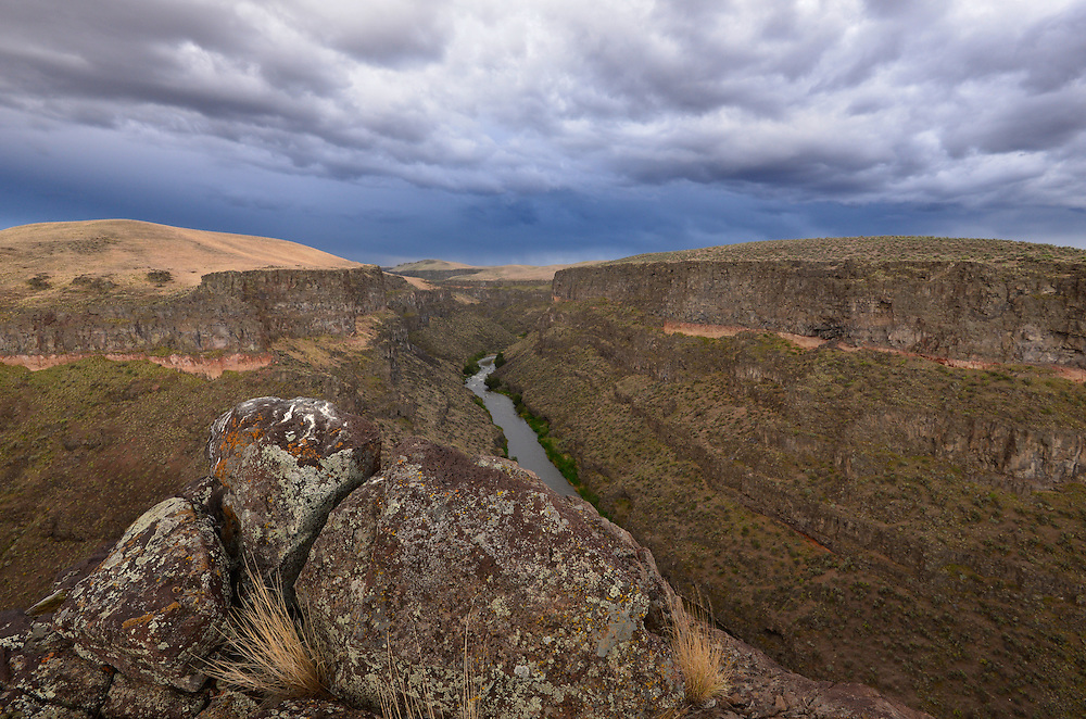 Storm over the Bruneau River Canyon, Idaho.