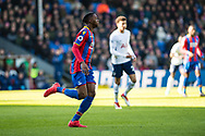 Crystal Palace #29 Aaron Wan-Bissaka 1st game in Premier League  during the Premier League match between Crystal Palace and Tottenham Hotspur at Selhurst Park, London, England on 25 February 2018. Picture by Sebastian Frej.