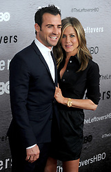 "File photo - Justin Theroux and Jennifer Aniston attend The Leftovers premiere at NYU Skirball Center in New York City, NY, USA, on June 23, 2014. Hollywood couple Jennifer Aniston and Justin Theroux are separating after two years of marriage. The pair, who reportedly met on the set of comedy film Wanderlust, said the mutual decision was ""lovingly made"" at the end of last year. Photo by Dennis Van Tine/ABACAPRESS.COM"