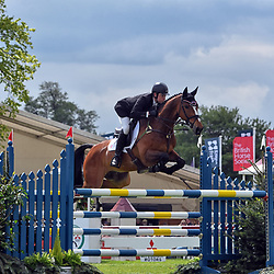 James Somerville Badminton Horse Trials Gloucester England UK, May 2019. James Somerville equestrian eventing representing Great Britain riding Talent at the Badminton horse trials 2019 Badminton Horse trials 2019 Winner Piggy French wins the title