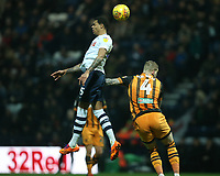 Preston North End's Lukas Nmecha and Hull City's Jordy de Wijs<br /> <br /> Photographer Stephen White/CameraSport<br /> <br /> The EFL Sky Bet Championship - Preston North End v Hull City - Wednesday 26th December 2018 - Deepdale Stadium - Preston<br /> <br /> World Copyright © 2018 CameraSport. All rights reserved. 43 Linden Ave. Countesthorpe. Leicester. England. LE8 5PG - Tel: +44 (0) 116 277 4147 - admin@camerasport.com - www.camerasport.com