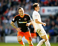 Billy Sharp of Sheffield Utd celebrates his first of the match and his 200th goal for the Blades during the English League One match at  Stadium MK, Milton Keynes. Picture date: April 22nd 2017. Pic credit should read: Simon Bellis/Sportimage