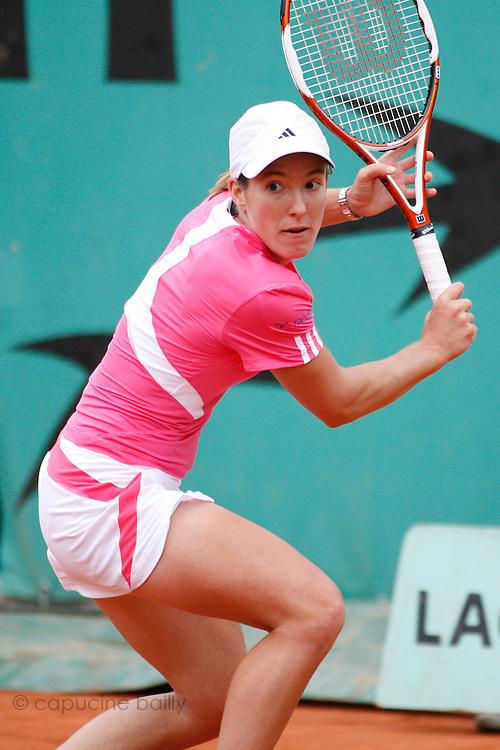 Roland Garros. Paris, France. May 30th 2007..Justine HENIN against Tamira PASZEK.
