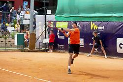 June 23, 2018 - L'Aquila, Italy - Guilherme Clezar during match between Facundo Bagnis (ARG) and Guilherme Clezar (BRA) during Men Semi-Final match at the Internazionali di Tennis Citt dell'Aquila (ATP Challenger L'Aquila) in L'Aquila, Italy, on June 23, 2018. (Credit Image: © Manuel Romano/NurPhoto via ZUMA Press)