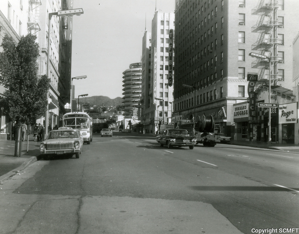 1963 Looking north on Vine St. at Fountain Ave