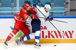 Alexander Kitarov of Belarus vs David Rodman of Slovenia during ice hockey match between Belarus and Slovenia at IIHF World Championship DIV. I Group A Kazakhstan 2019, on May 2, 2019 in Barys Arena, Nur-Sultan, Kazakhstan. Photo by Matic Klansek Velej / Sportida