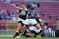 Stefan Ungerer of the Sharks sends the ball back during the Currie Cup Premier Division match between the DHL Western Province and the Sharks held at the DHL Newlands Rugby Stadium in Cape Town, South Africa on the 3rd September  2016<br /> <br /> Photo by: Shaun Roy / RealTime Images