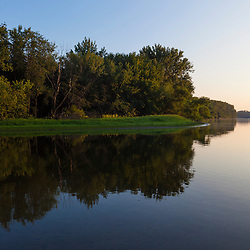 Early morning on the Connecticut River in Weathersfield, Connecticut.
