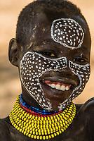 Young teenage Kara tribe girls, Omo Valley, Ethiopia.