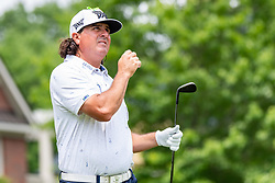 May 4, 2019 - Charlotte, NC, U.S. - CHARLOTTE, NC - MAY 04: Pat Perez hits from the 4th hole tee box during the third round of the Wells Fargo Championship at Quail Hollow on May 4, 2019 in Charlotte, NC. (Photo by William Howard/Icon Sportswire) (Credit Image: © William Howard/Icon SMI via ZUMA Press)