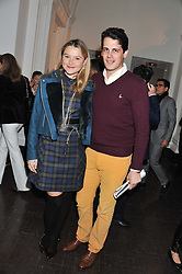 AMBER ATHERTON and MILO YIANNOPOULOS at a party to celebrate the launch of the new gallery Pace at 6 Burlington Gardens, London on 3rd October 2012.