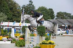 Brondeel Donaat (BEL) - Breemeersen Adorado<br /> World Championship Young Horses Lanaken 2008<br /> Photo Copyright Hippo Foto