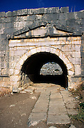Archway entrance to the amphitheatre at Lycian city of Letoon, Turkey