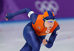 February 18, 2018 - Gangneung, South Korea - Speed skater Lotte Van Been of the Netherlands competes during the Ladies Speed Skating 500M finals at the PyeongChang 2018 Winter Olympic Games at Gangneung Oval on Sunday February 18, 2018. (Credit Image: © Paul Kitagaki Jr. via ZUMA Wire)