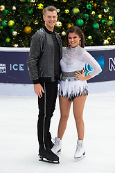 © Licensed to London News Pictures. 18/12/2018. London, UK. Saara Aalto and Hamish Gaman attends a photocall for the launch of ITV's Dancing On Ice new series. Photo credit: Ray Tang/LNP