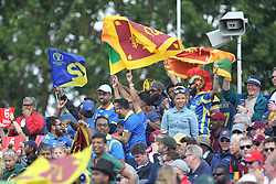 July 1, 2019 - Chester Le Street, County Durham, United Kingdom - Sri Lankan fans                   during the ICC Cricket World Cup 2019 match between Sri Lanka and West Indies at Emirates Riverside, Chester le Street on Monday 1st July 2019. (Credit Image: © Mi News/NurPhoto via ZUMA Press)