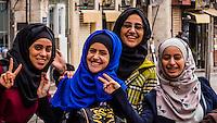 Jordanian women, Downtown Amman, Jordan.