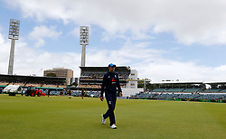 England captain Joe Root walks from the field as rain halts the start of play during day five of the Ashes Test match at the WACA Ground, Perth.