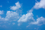 Cloud formations and blue sky