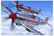 Spitfire MKXIVs formation flying, aerial photography