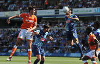 Wycombe Wanderers' Adam El-Abd heads clear<br /> <br /> Photographer Kevin Barnes/CameraSport<br /> <br /> The EFL Sky Bet League One - Wycombe Wanderers v Blackpool - Saturday 4th August 2018 - Adams Park - Wycombe<br /> <br /> World Copyright © 2018 CameraSport. All rights reserved. 43 Linden Ave. Countesthorpe. Leicester. England. LE8 5PG - Tel: +44 (0) 116 277 4147 - admin@camerasport.com - www.camerasport.com