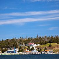 North America, Canada, Nova Scotia, Guysborough.  Marina and town on shore of Chedabucto Bay.